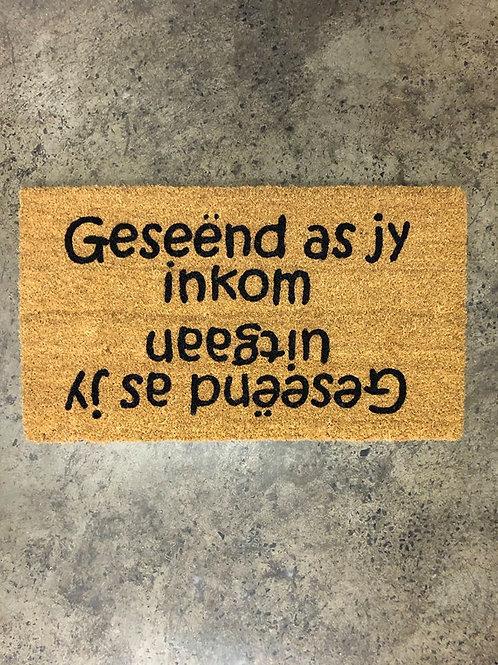 Doormat: Blessed/Geseend
