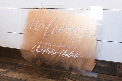 Painted Perspex Wedding Board
