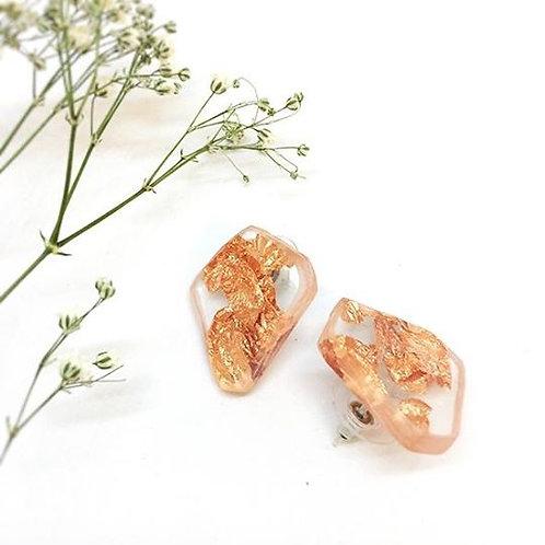 Organic Stud Earings Copper