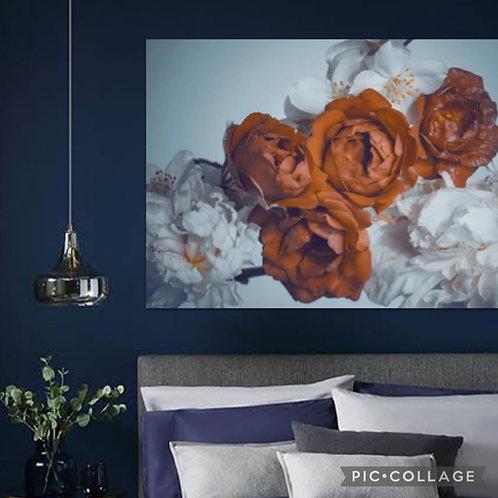 2021 Steel/Wood Flower Pastel and Orange