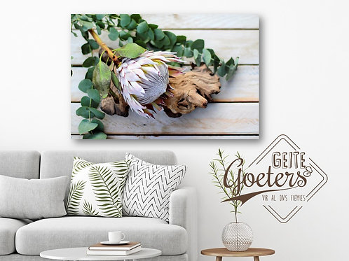 Rustic Side Protea with wood