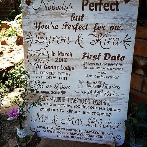 A3 Engraved Wood Signs