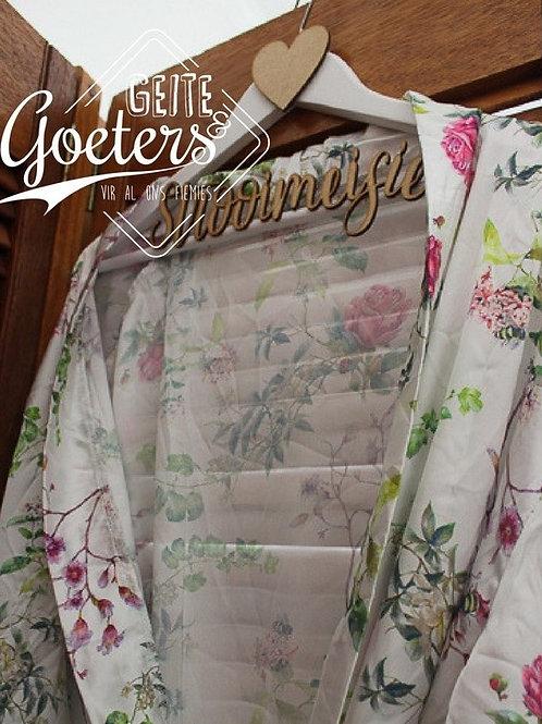 Satin gown: plain/floral