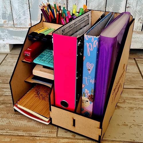 Desk organiser for teacher