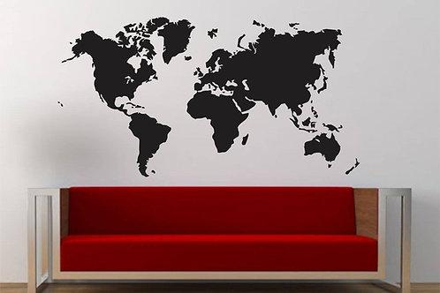World Map Vinyl Sticker