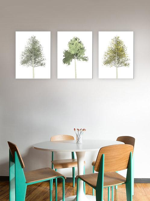 Set of 3 Trees - Green