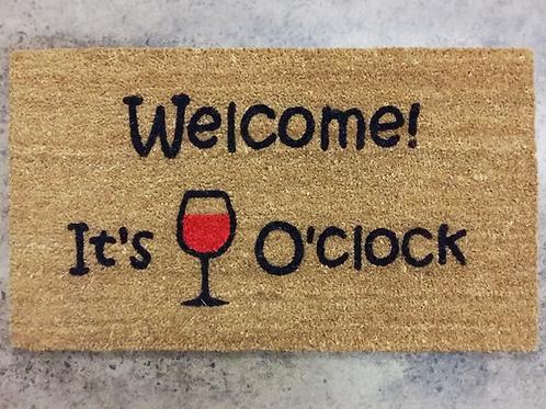 Doormat: Wine O Clock
