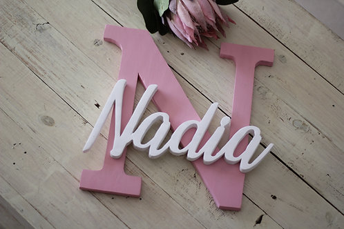 60cm letter and name