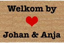 Welcome to/ Welkom by - Custom
