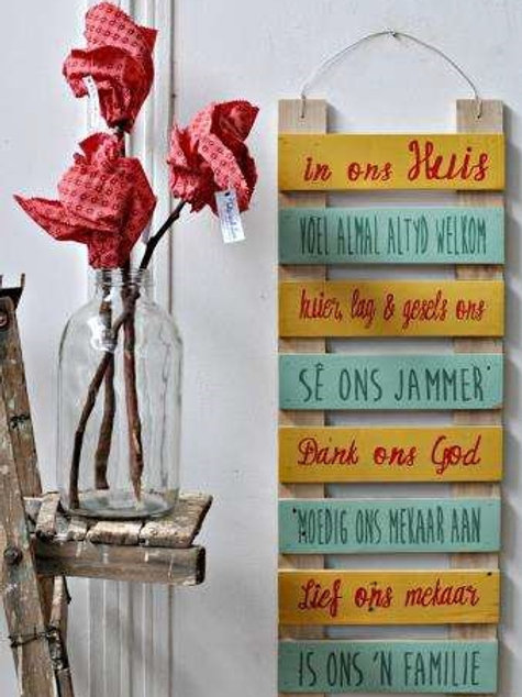 WORD LADDER WALL DÉCOR – 8 PLANK
