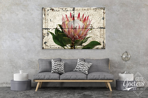 BF Rustic Tile Protea Light Pink (A0)