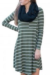 Fashionable High Low Hemline Round Neck Dress Mini Length