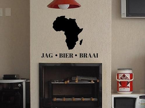 Decal: Jag Bier Braai