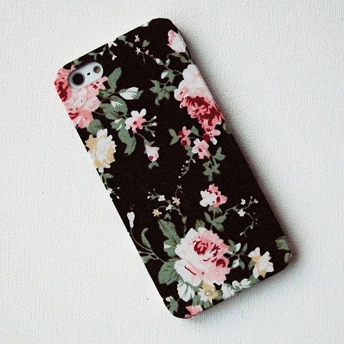 Phone Case: Floral Black