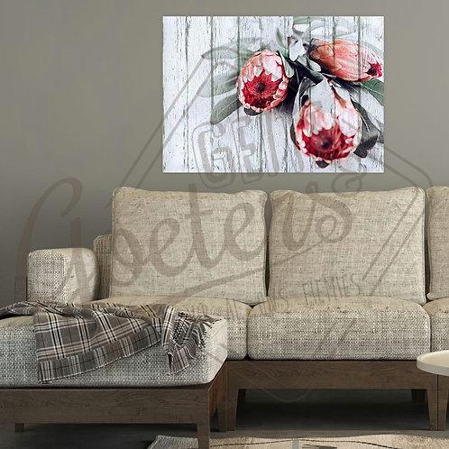 Buy one get one free: Pastel Protea Trio Dark Pink