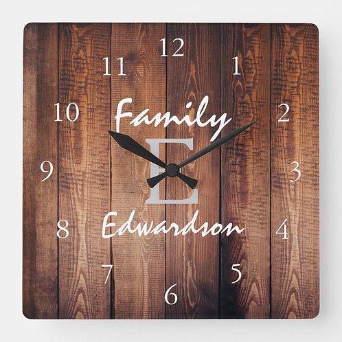 Custom Clock - with vinyl