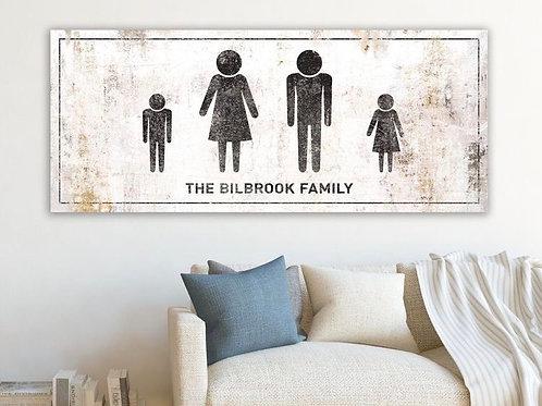 Steel/Wood Rustic White Family Print