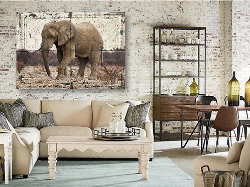 Rustic Tile Elephant
