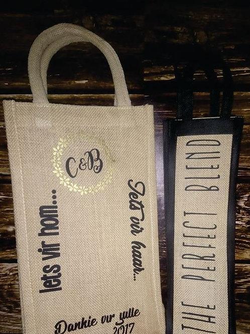 Custom double wine bag