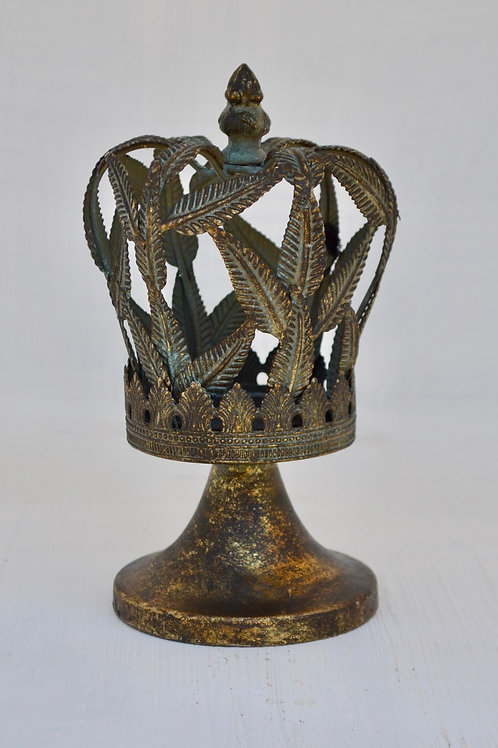 T062 Candle Holder Crown 20x11cm