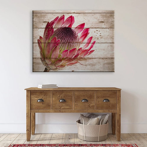 2020 Rustic Protea Blooming Side Bright Pink