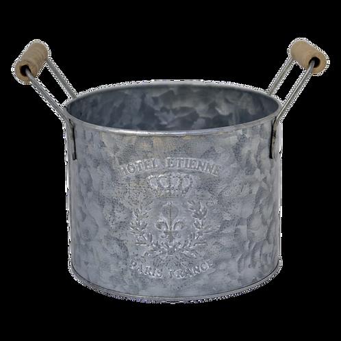 T059M Bucket Metal Round Medium 15x12 excl handle