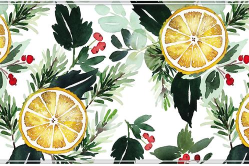 Lemon and Berry Vinyl Table Runner