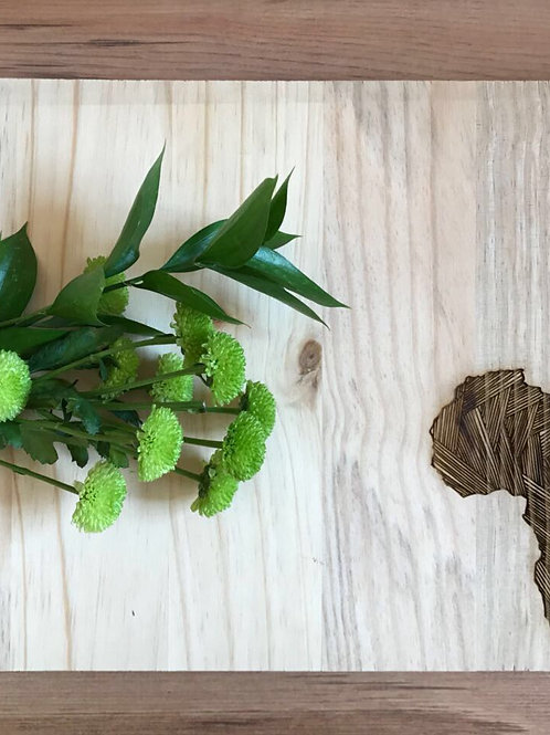 Large Africa chopping/serving board