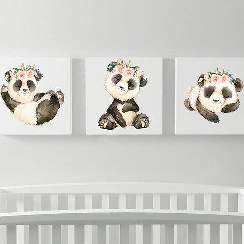 2020 Panda wood print