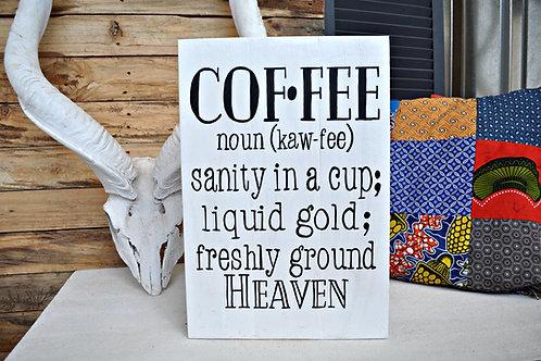 Large Coffee Board