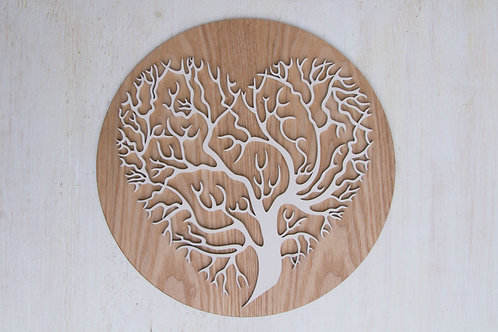 Heart tree mandala