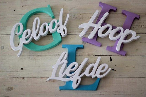 Set of 3 20cm initial and word
