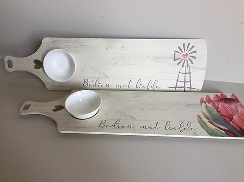 Long Serving Tray with bowl