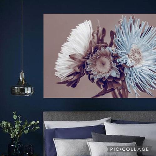 2021 Steel/Wood Flower Pastel and Blue