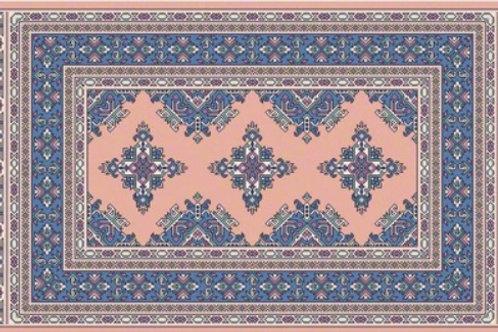 Pink and Blue Vinyl Rug