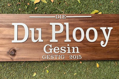Name Plaque 90cm