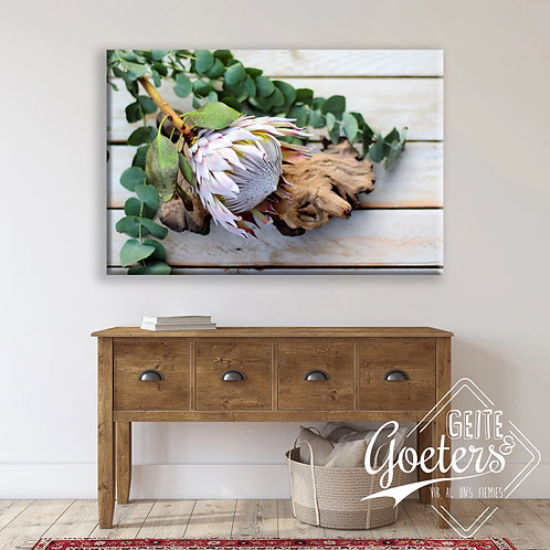 BF Rustic Side Protea with wood (A3)