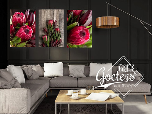 2021  Set of 3 Pink wood sides