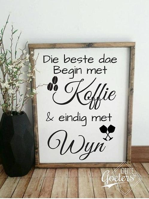 Koffie en Wyn