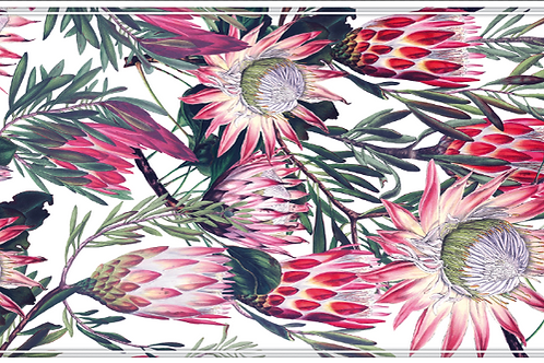 Protea 4 - White Table Runner