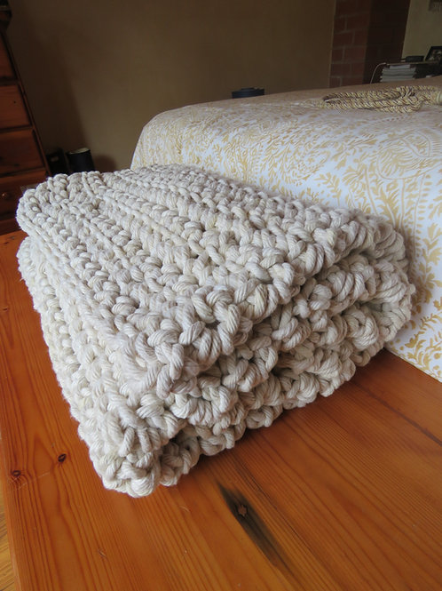 Blanket Ribbed Double Throw 240mm x 180mm