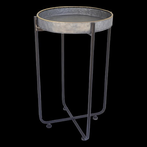 T060 Table Metal Round 45 x 71cm
