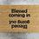 Thumbnail: Doormat: Blessed/Geseend