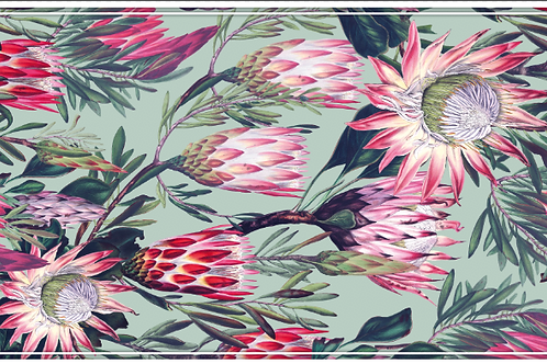 Protea 4 Mint Table Runner
