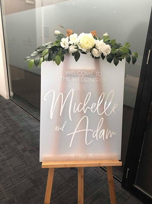 Frosted Perspex Wedding Board