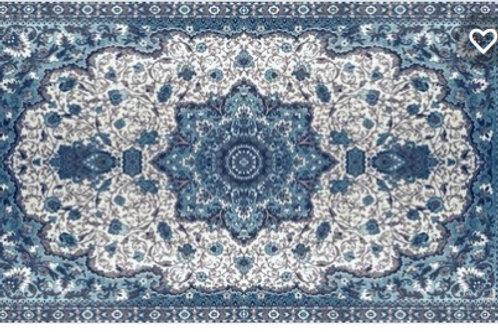 Blue Oriental Vinyl Rug