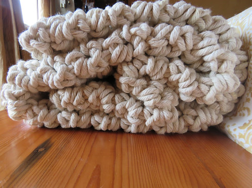 Blanket Ribbed Single Throw 120mm x 180mm