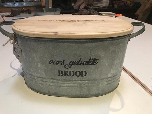 OVAL BREAD BIN WITH WOODEN LID