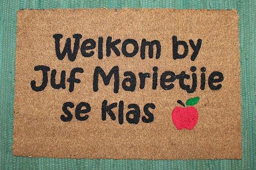 Juffrou Door mat Welcome to/ Welkom by