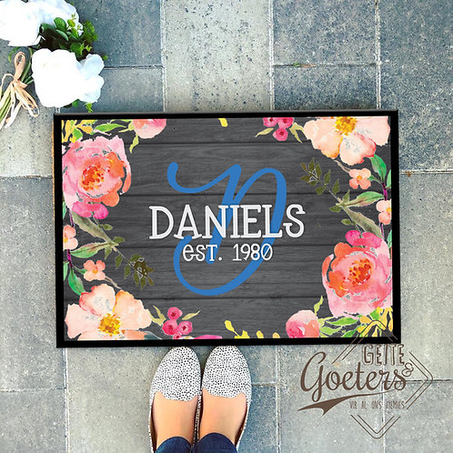 Family Name Rug Floral